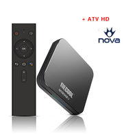Mecool KM9 pro Android 9.0 Smart TV Box with 1 year ATVHD Package watch UK Greece Nova Germany Italy French