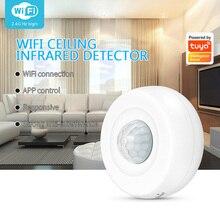 Tuya WiFi PIR Motion Sensor, Security Burglar Alarm Sensor Remote By Smart Life Smart Home Infrared Passive Detector Alexa