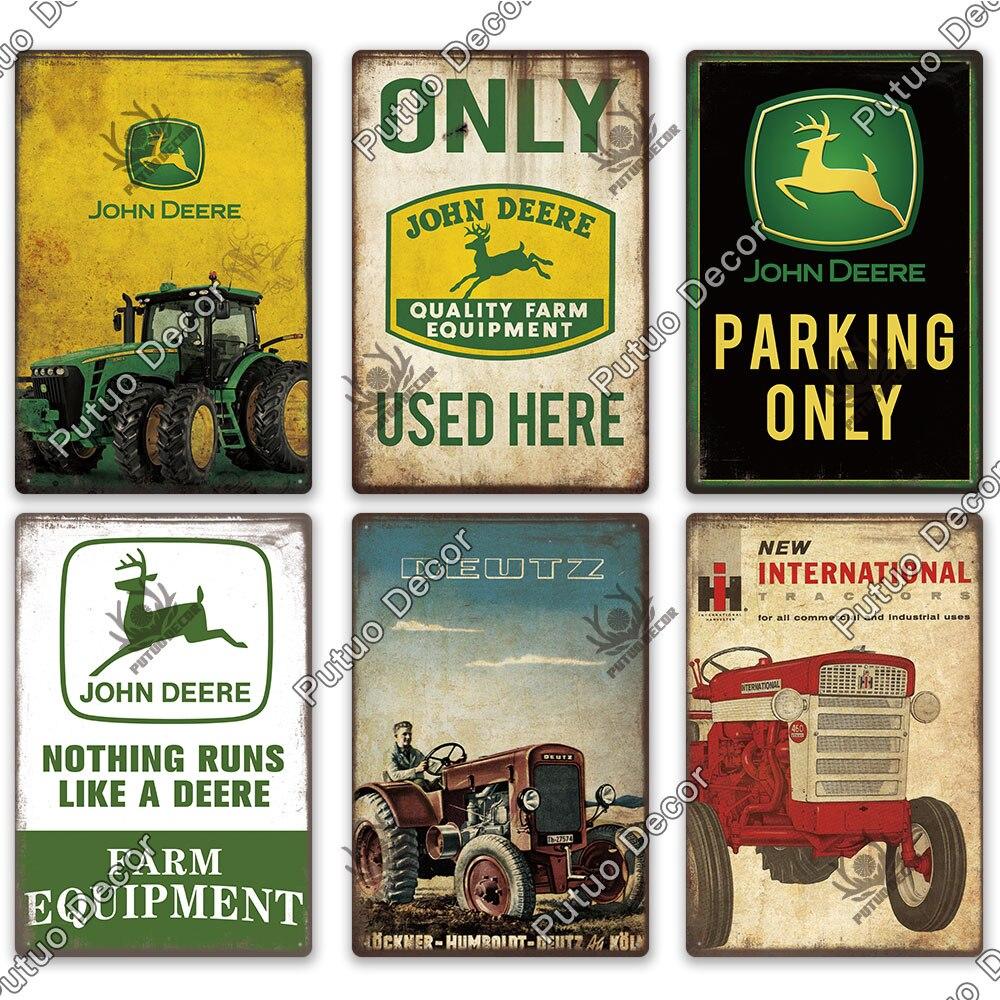 Putuo Decor Agricultural Machinery Vintage Metal Sign Tin Sign Decorative Plaque Wall Decor Farm Man Cave Garage  Decoration 2