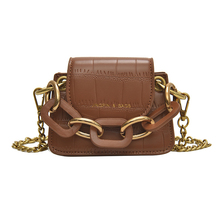 Female Bag 2019 New Wild Simple Fashion Korean Version of The Shoulder Bag Chain Crocodile Pattern Mini Change Diagonal Package
