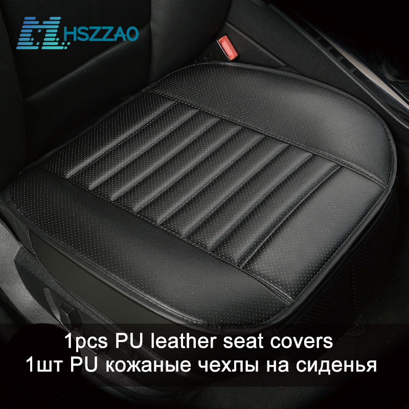 Ultra-Luxury Car Seat Protection Single Seat Without Backrest PU Senior Leather Car Seat Cover For Most Four-Door Sedan&SUV