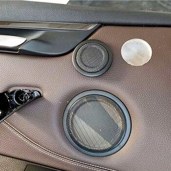 Rear door tweeter cover trim for BMW F20 F22 F30 F32 F48 car speaker treble audio Twiiter loudspeaker high pitch case upgrade car midrange speaker cover trim for bmw 5gt f07 528 535 auto front rear door mid range loudspeaker covers audio tweeter case