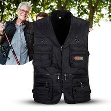 Мужской жилет для рыбалки с несколькими карманами на молнии для фотосъемки/охоты/путешествий, спорта на открытом воздухе
