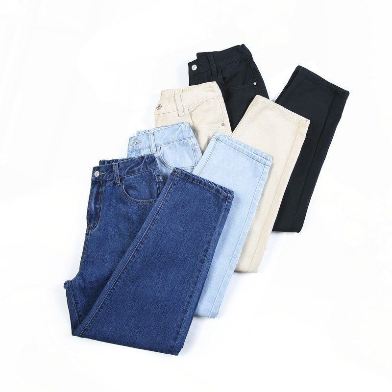 Ff889 2019 New Autumn Winter Women Fashion Casual Denim Pants Loose Style Womens Jeans High Waist Jeans