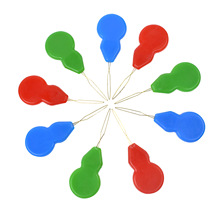 10PCS Plastic Threader Cross Stitch Needles Gourd-Shape Multicolor Insertion Tools Hand Sewing Machine DIY Craft  Accessories G