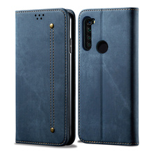 Retro Flip Case For Xiaomi Redmi Note 8t Case Denim Fabirc Stand Wallet Back Cover For Redmi Note 8 Pro Note8t Fundas xiaomi redmi note 8 case redmi note 8 pro cover soft tpu back cover wallet leather flip case for xiomi xiaomi redmi note 8t case