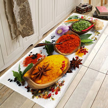 Cozinha temporada morango impressão padrão cozinha porta de entrada tapete anti-deslizamento piso banheiro área corredor frete grátis