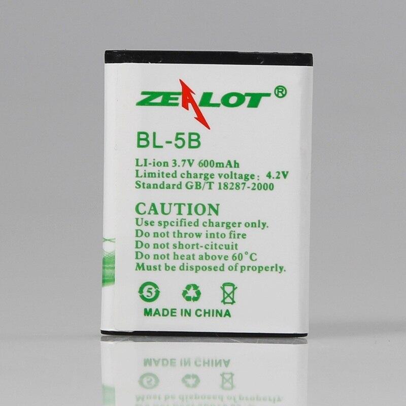 ZEALOT BL-5B Headphones Replaceable Rechargeable Battery For B570 B19 B20 N65 B560 Headphones Lithium Battery