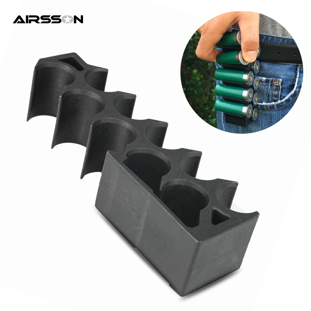 10 Rounds Tactical Shell Holder 12 Gauge Ammo Carrier with Clips to Belt Airsoft Shooting Hunting Shotgun Cartridge Bullet Pouch image