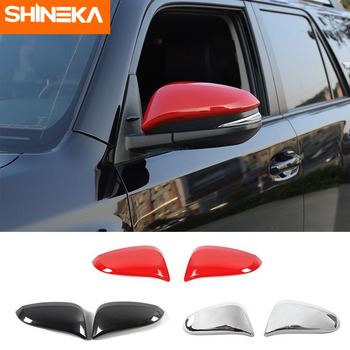 SHINEKA Exterior Sticker For Toyota 4Runner Car Outer Rearview Mirror Cover Decoration Protection Shell For Toyota 4Runner 2017+