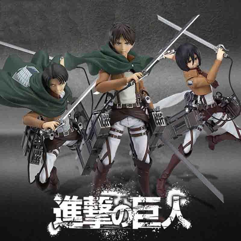 Attaque d'anime sur Titan Eren Mikasa Ackerman Levi/Rivaille Figma PVC figurine modèle jouet