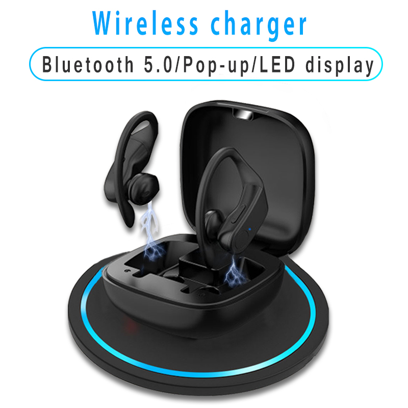 B10 TWS Pop-up Wireless Earphones Bluetooth 5.0 Stereo HIFI headphones Sport earbuds wireless charger Gaming Headset Led display