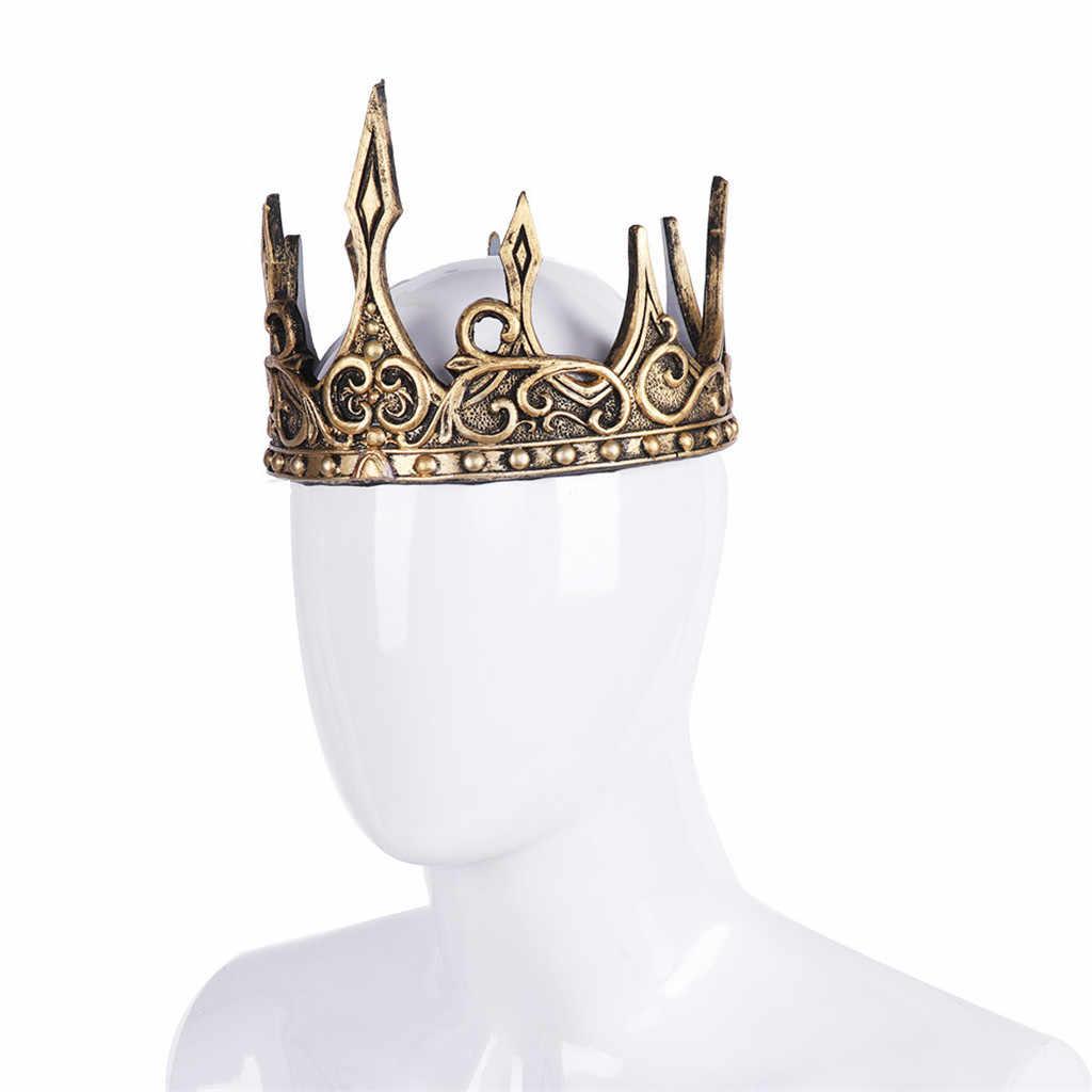 Hợp thời trang Màu Vàng Baroque Pha Lê Sang Trọng Cưới Vương Miện Cho Cô Dâu quả quýt hình Vương Miện Nữ Hoàng Thời Trang Mũ Trụ Tóc Phụ Kiện Số P7