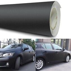 12x60 Inch Universal Matte Black Vinyl Film Wrap Car DIY Sticker Vehicle Decal 3D Automobiles Exterior Body Color Changing Film