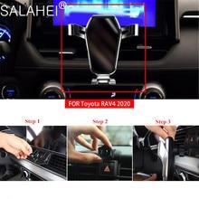 Gravidade carro suporte do telefone móvel para toyota rav4 2020 nenhum magnético gps smartphone suporte de ventilação ar clipe montagem suporte acessórios