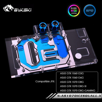 Bykski Water Cooling Block For ASUS GTX 1060 O3G O6G, GPU Cooler For ASUS GTX 1070 O8G/SI/GAMING, N-AS1070ICESQUALL-X image