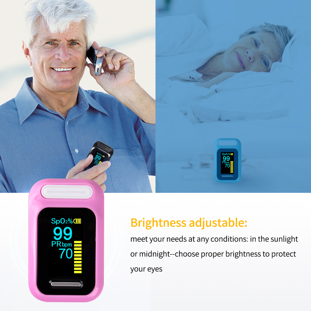 ELERA Finger Pulse Oximeter with OLED Display to calculate Blood Oxygen Saturation 7