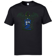 Brand New Man Tops Tees Monster Cthulhu Tardis Print Top T-shirts Back To The Future Dr Who 100% Cotton Doctor Tshirt