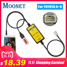Moonet Cd-Changer Aux-Interface Auris Avensis RAV4 Corolla Toyota for 6--6pin 6--6pin