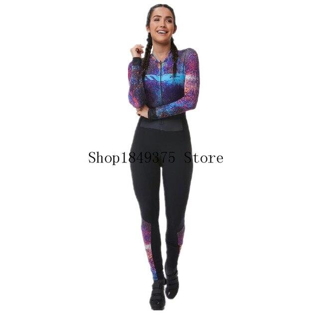 Triathlon skinsit verão esportes das mulheres manga longa calças compridas conjunto camisa de ciclismo macacão roupa feminina uniforme 2020 3