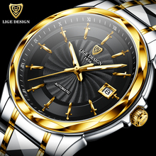 LIGE New High-end luxury Mens Watches Automatic Mechanical T