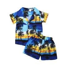 Infant Toddler Kid Baby Boy Outfit Set Hawaiian Beach Fancy