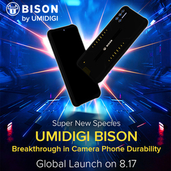UMIDIGI BISON IP68/IP69K Wasserdichte Robuste Handy 6.3 FHD + 18W Schnelle Lade 6GB + 128GB NFC 48MP Quad Kamera Smartphone