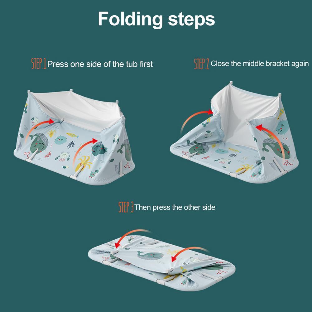Banheira exterior não inflável portátil do agregado familiar da banheira de dobramento para adultos e crianças-5