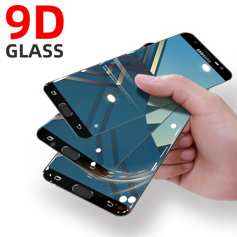 9H Full Cover Tempered Glass For Samsung Galaxy S10 Lite S8 S7 S6 Screen Protector J7 2017 Duo Max Plus J8 2018 Protective Glass