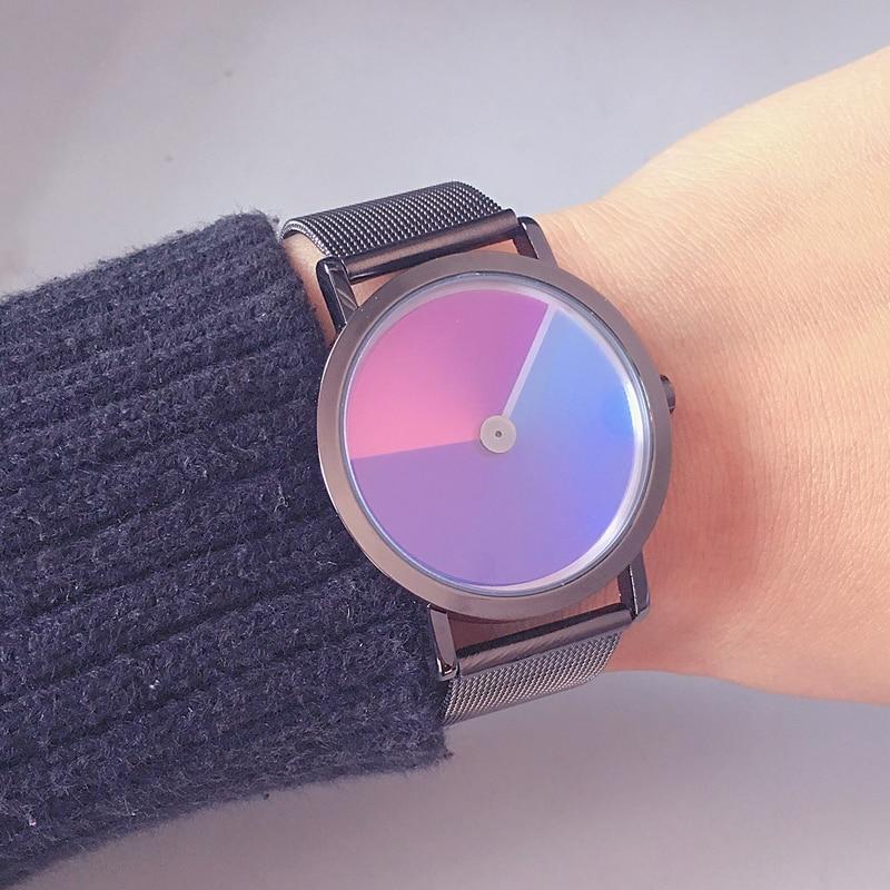 Rainbow WristWatch 2019 Fashion Retro Design Women Dress Watch Quartz Zegarek Damski Alloy Watches Gift For Lovers Reloj Mujer