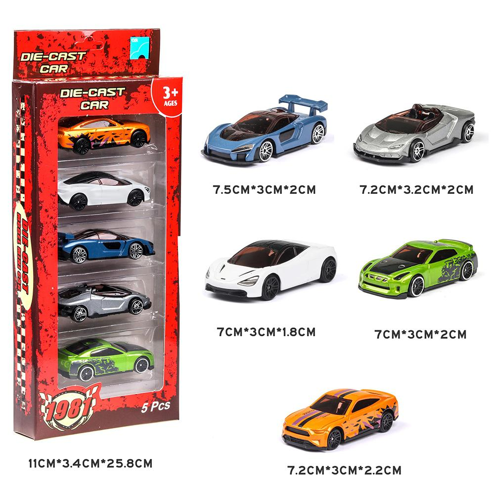 5PCS 1:64 Simulated Children Toy Multi-Style Taxiing Alloy Mini Car Model Kids Toys For Boy Home Table Decoration