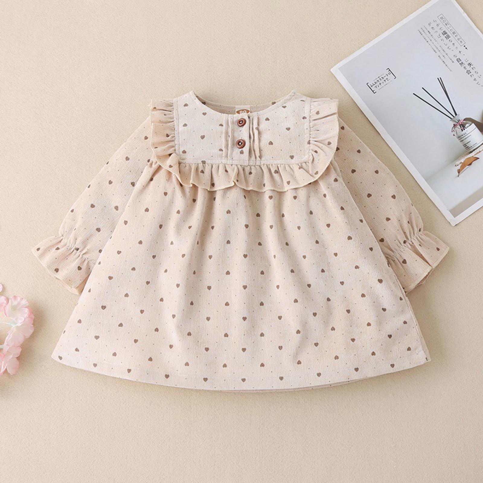 Одежда для малышей платье для девочек без рукавов с принтом в виде сердечек с кружевом платье принцессы для девочек, платье принцессы, Детск...