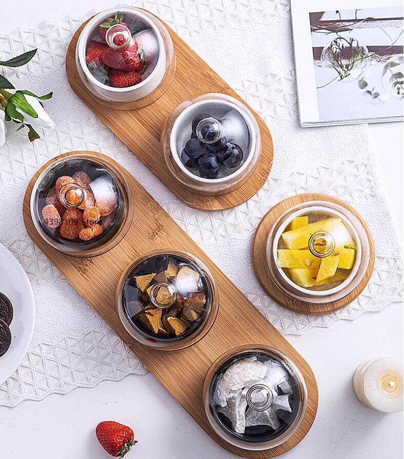 Японская посуда черная керамическая тарелка для десерта Фруктовая тарелка креативная стеклянная крышка Бытовая тарелка для закусок сушеные фрукты тарелка для торта|Чаши|   | АлиЭкспресс