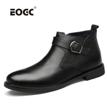 High Quality Men Boots Genuine Leather Outdoor Ankle Snow Boots Super Warm Plush Autumn Winter Boots Shoes Zapatos Hombre