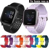 Cinturini sportivi in Silicone per Garmin Venu SQ/SQ Music Smart Watch sostituisci cinturino 20MM per Amazfit Bip S Lite U GTS hay485 LS02 Correa