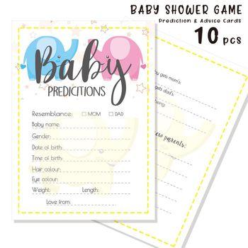 10 Pack porady i przewidywania karty dla Baby Shower gra rodzic wiadomość porady książka zabawa płeć neutralny prysznic Party tanie i dobre opinie VSRRWL Durable Cardstock 5 x 7in 12 7 x 17 78cm 0-3 M 4-6 M 7-9 M 10-12 M 13-18 M 19-24 M 2-3Y Baby Shower Predicitions and Advice Card