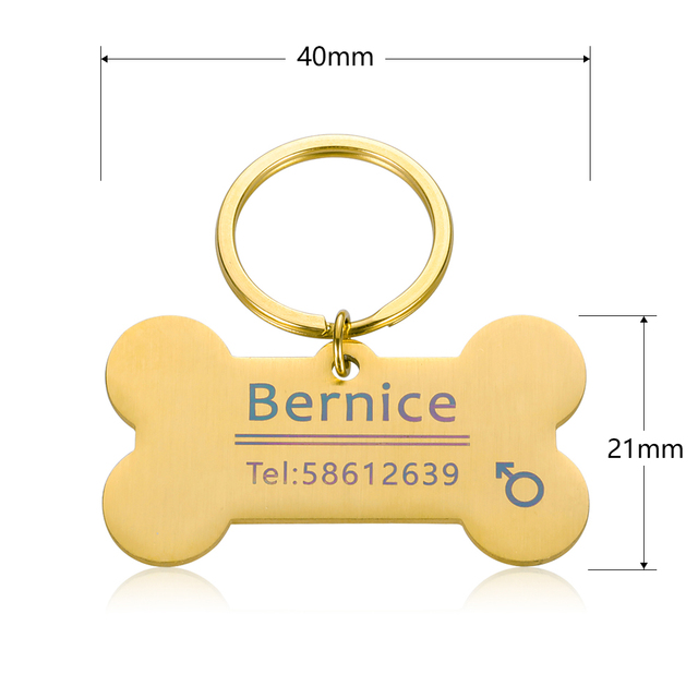 Engraved Tag, Personalized Puppy Pet ID, Pet Tags for Dogs - Cats - Kittens  6