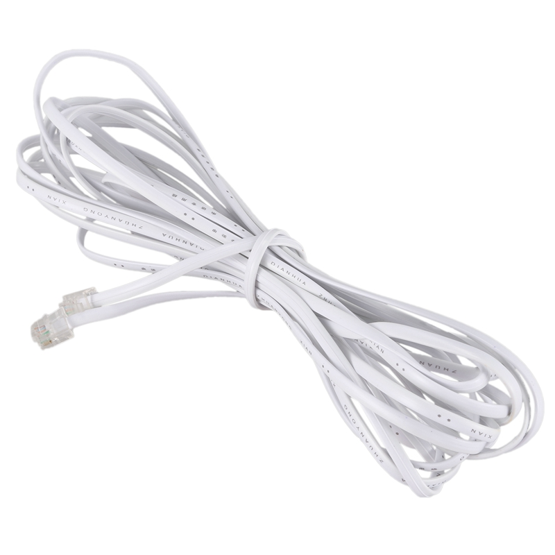Lot 2 Pc 14-Foot Standard Residential Phone Line Cords Cable 6P4C RJ11 UL Listed