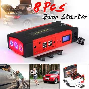 82800mAh High Power Car Jump Starter 12V Portable Starting Device Power Bank LED Flashlight Car Charger For Car Battery