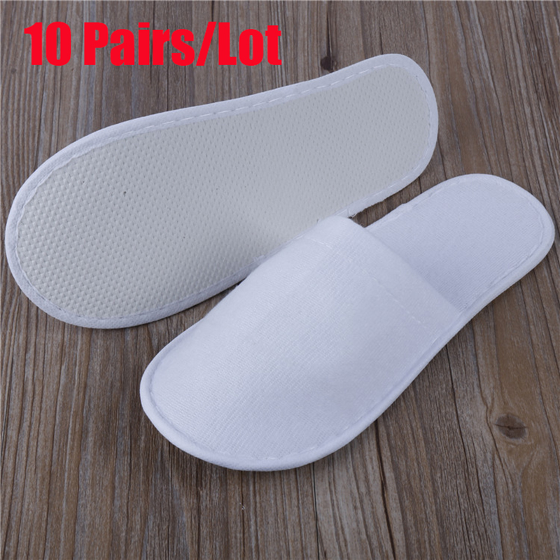 10pcs/Lot Hotel Disposable Slippers Men Wholesale Non-woven Slippers Thick Travel Business Trip Airplane Break Slippers Men Shoe