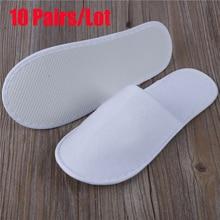 10pcs/Lot Hotel Disposable Slippers Men Wholesale Non-woven Thick Travel Business Trip Airplane Break Shoe