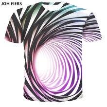 JOH FIERS summer new Hypnotic Vertigo 3D custom Printing men t Shirt Funny Short Sleeved Tees Men/women Tops Mens T-shirt