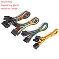 Двухрядный разъем DUPONT LINE DUPONT, 5 шт., 20 см, штекер с проводным соединительным кабелем, 2,54 мм, 2*2/3/4/5/6/7/8/9/10 PIN P гнездо к гнезду