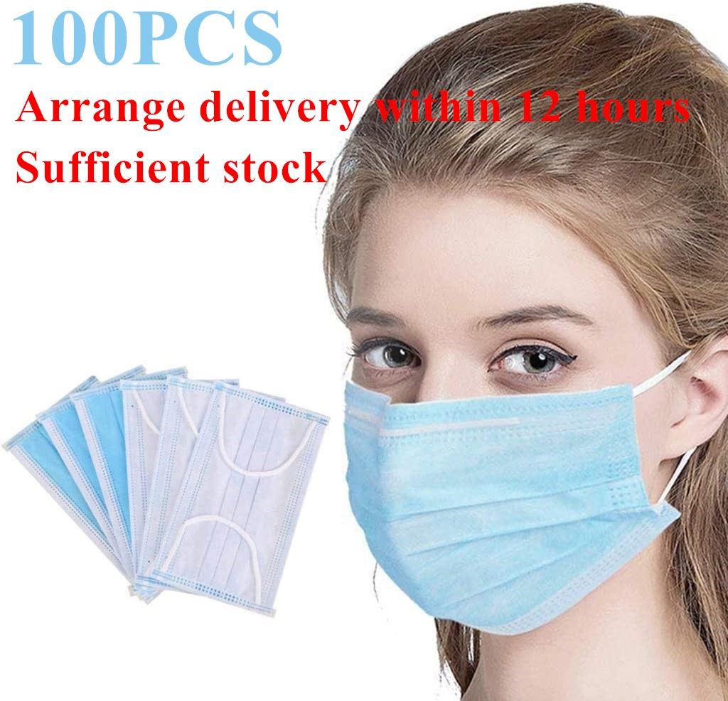 100PCS In stock mouth mask Cotton Anti Dust Mask Mouth Windproof Mouth-muffle Bacteria Proof Flu Face Masks