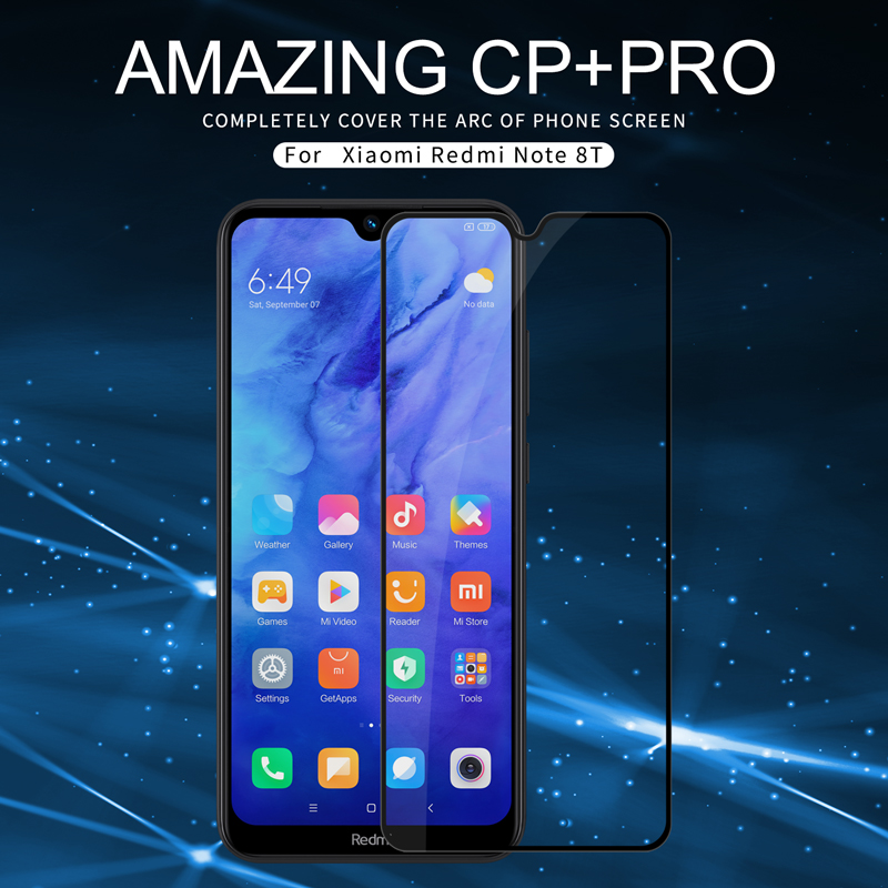 2.5D arc cuvred For Xiaomi Redmi Note 8T Note8T Tempered glass Nillkin CP+ Pro Full screen protector Protective film Sticker|Phone Screen Protectors| |  - title=