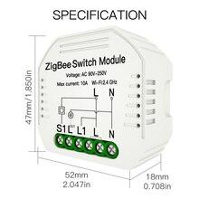 Mini DIY ZigBee 3.0 Smart Light Switch Module AC90-250V 10A