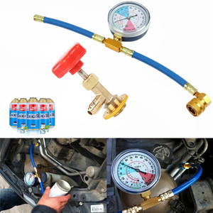 Freon r134a Air Conditioning Hosh Air Conditioning Recharge Measuring Hose Gauge r134a Refrigerante Open Valve Charging Pipe(China)
