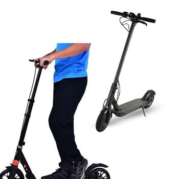 Electric scooter 8.5 Inch strong power US Folding Two Wheel Scooter Bike Mini Light Portable Driving Scooter With Stopwatch 2018 new real kids light scooter child four round wheel folding bike slide block flash 4 wheels outdoor toys 2 15years bicycle
