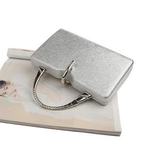 Image 3 - כסף מצמד שקיות נשים עור מפוצל תיקי יוקרה מעצב חתונה מצמד ארנקי אלגנטי כתף תיק Bolso mujer ZD1358