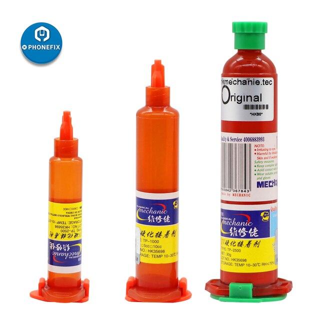 Mecânico TP 2500 10ML UV Cola LOCA UV Cola Líquida Optical Adhesive Cola para samsung iphone huawei vidro Da tela lcd reparação lente
